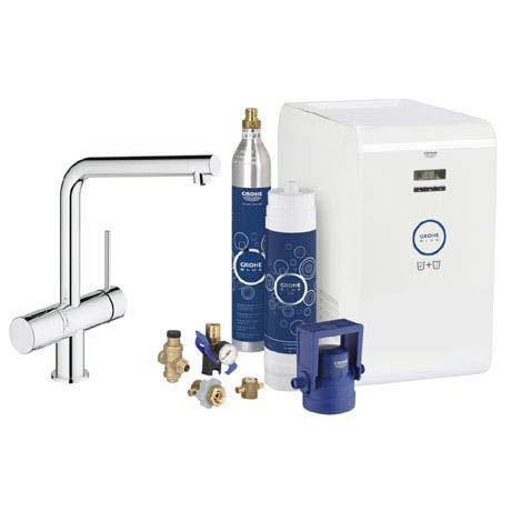 Grohe Blue Chilled & Sparkling Starter Kit with Minta Tap - Chrome - 31347002