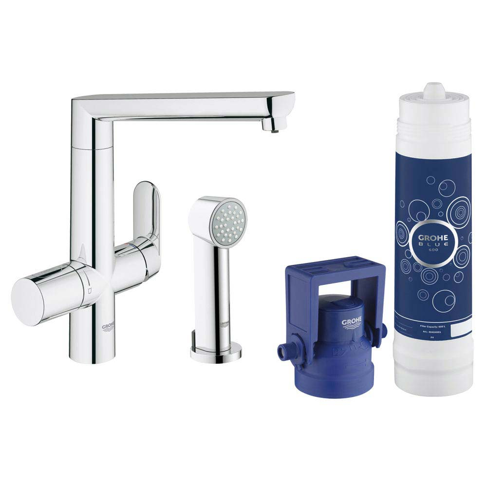 Grohe Blue K7 Pure Starter Kit with Side Spray - Chrome - 31354001 Large Image