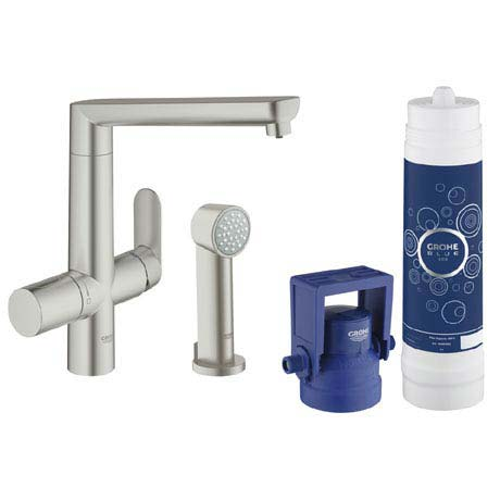 Grohe Blue K7 Pure Starter Kit with Side Spray - SuperSteel - 31354DC1