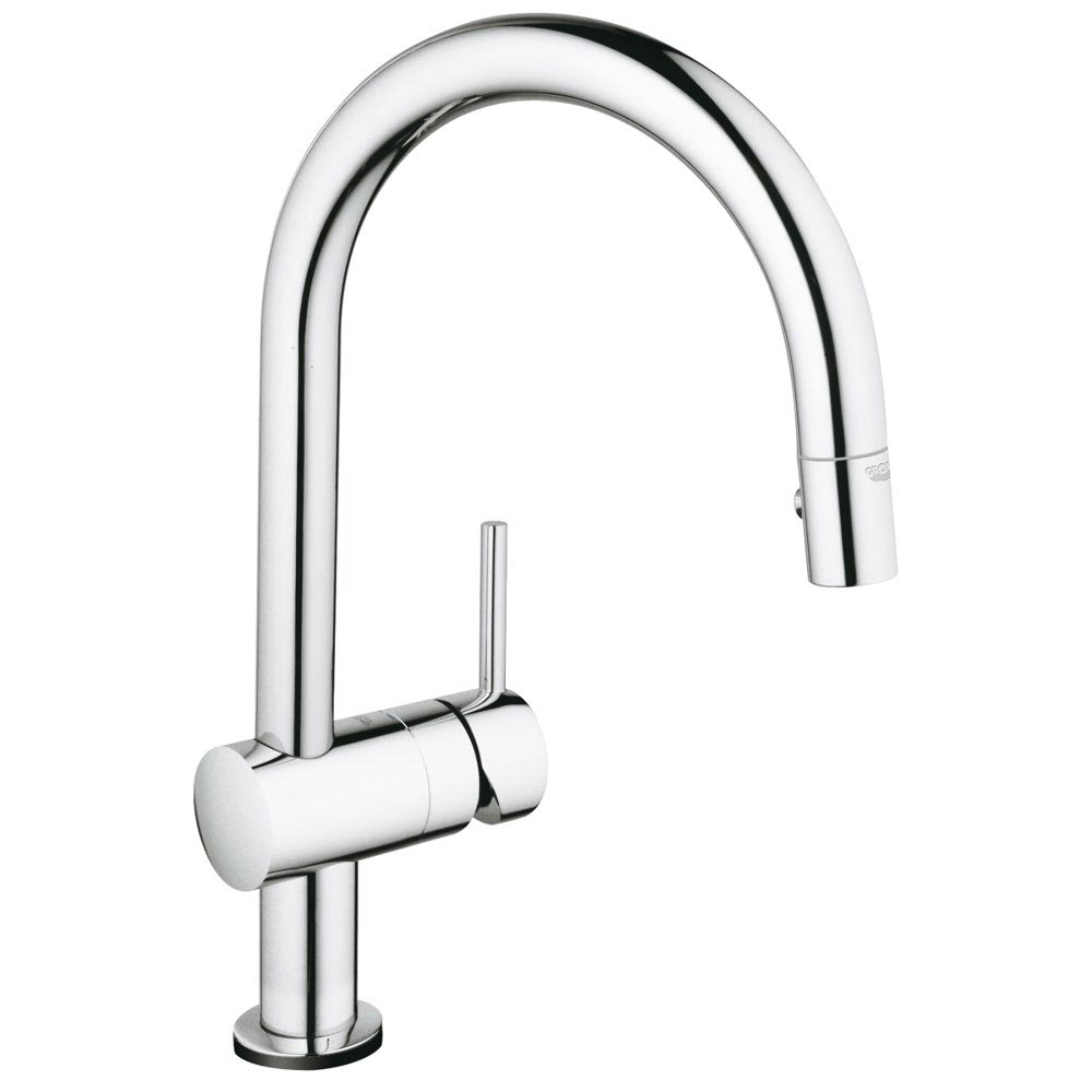 Grohe Minta Touch Electronic Kitchen Sink Mixer with Pull Out Spray - Chrome - 31358000