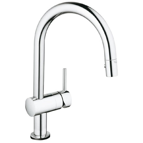 Grohe Minta Touch Electronic Kitchen Sink Mixer with Pull Out Spray - Chrome - 31358001
