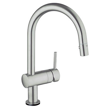 Grohe Minta Touch Electronic Kitchen Sink Mixer with Pull Out Spray - SuperSteel - 31358DC1