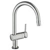Grohe Minta Touch Electronic Kitchen Sink Mixer with Pull Out Spray - SuperSteel - 31358DC1 profile small image view 1