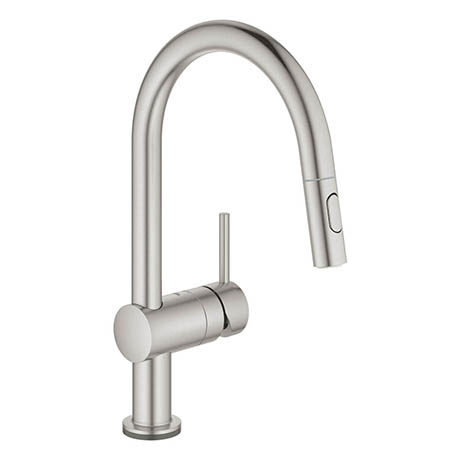 Grohe Minta Touch Electronic Kitchen Sink Mixer with Pull Out Spray - SuperSteel - 31358DC2
