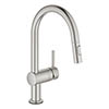 Grohe Minta Touch Electronic Kitchen Sink Mixer with Pull Out Spray - SuperSteel - 31358DC2 profile small image view 1