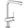 Grohe Minta Touch Electronic Kitchen Sink Mixer with Pull Out Spray - Chrome - 31360001 profile small image view 1