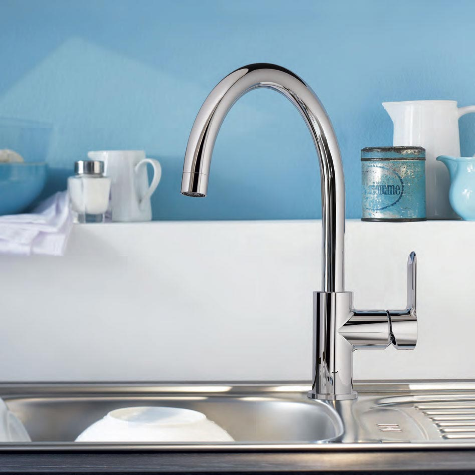 Grohe BauEdge Kitchen Sink Mixer - 31367000 profile large image view 2