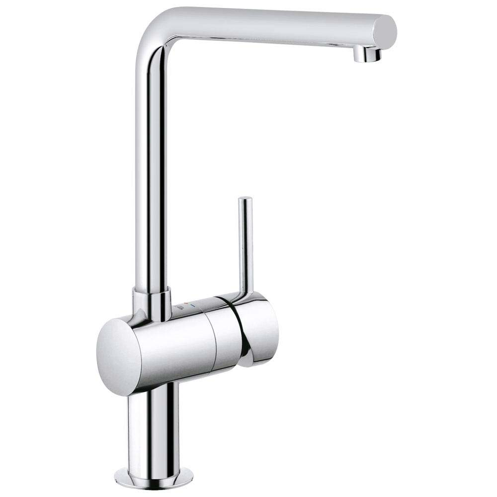 Grohe Minta Kitchen Sink Mixer - Chrome - 31375000 profile large image view 1