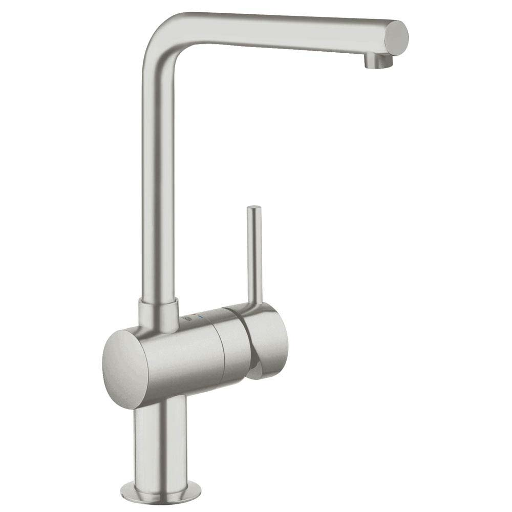 Grohe Minta Kitchen Sink Mixer - SuperSteel - 31375DC0 Large Image