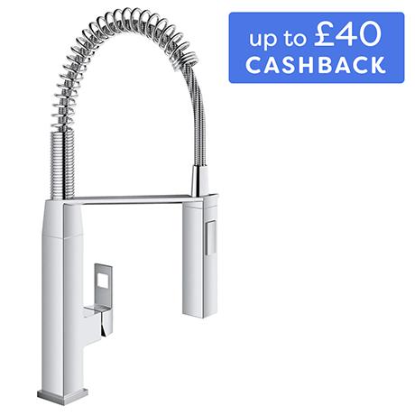 Grohe Eurocube Professional Kitchen Sink Mixer - Chrome - 31395000