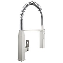 Grohe Eurocube Professional Kitchen Sink Mixer - SuperSteel - 31395DC0 Medium Image