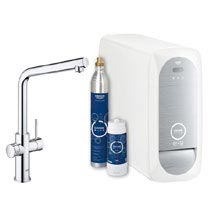 Grohe L-Spout Blue Home Duo Starter Kit - Chrome - 31454000 Medium Image