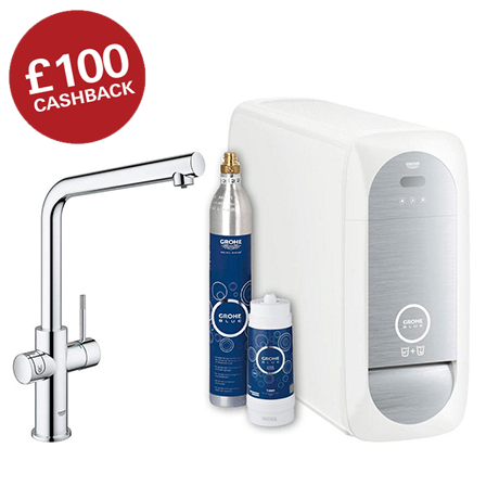 Grohe L-Spout Blue Home Duo Starter Kit - Chrome - 31454000