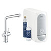 Grohe L-Spout Blue Home Duo Starter Kit - Chrome - 31454001 profile small image view 1