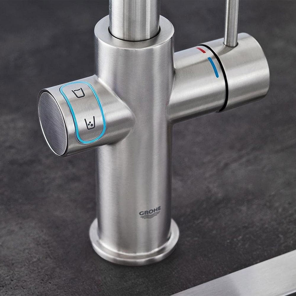 Grohe L-Spout Blue Home Duo Starter Kit - Stainless Steel - 31454DC0  In Bathroom Large Image