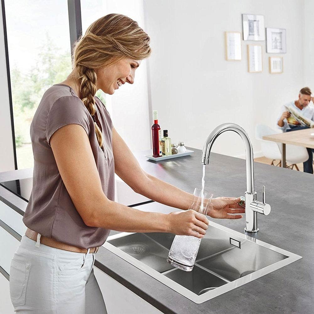 Grohe C-Spout Blue Home Duo Starter Kit - Chrome - 31455000  Feature Large Image
