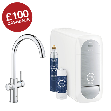 Grohe C-Spout Blue Home Duo Starter Kit - Chrome - 31455000