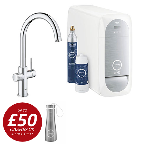 Grohe C-Spout Blue Home Duo Starter Kit - Chrome - 31455001