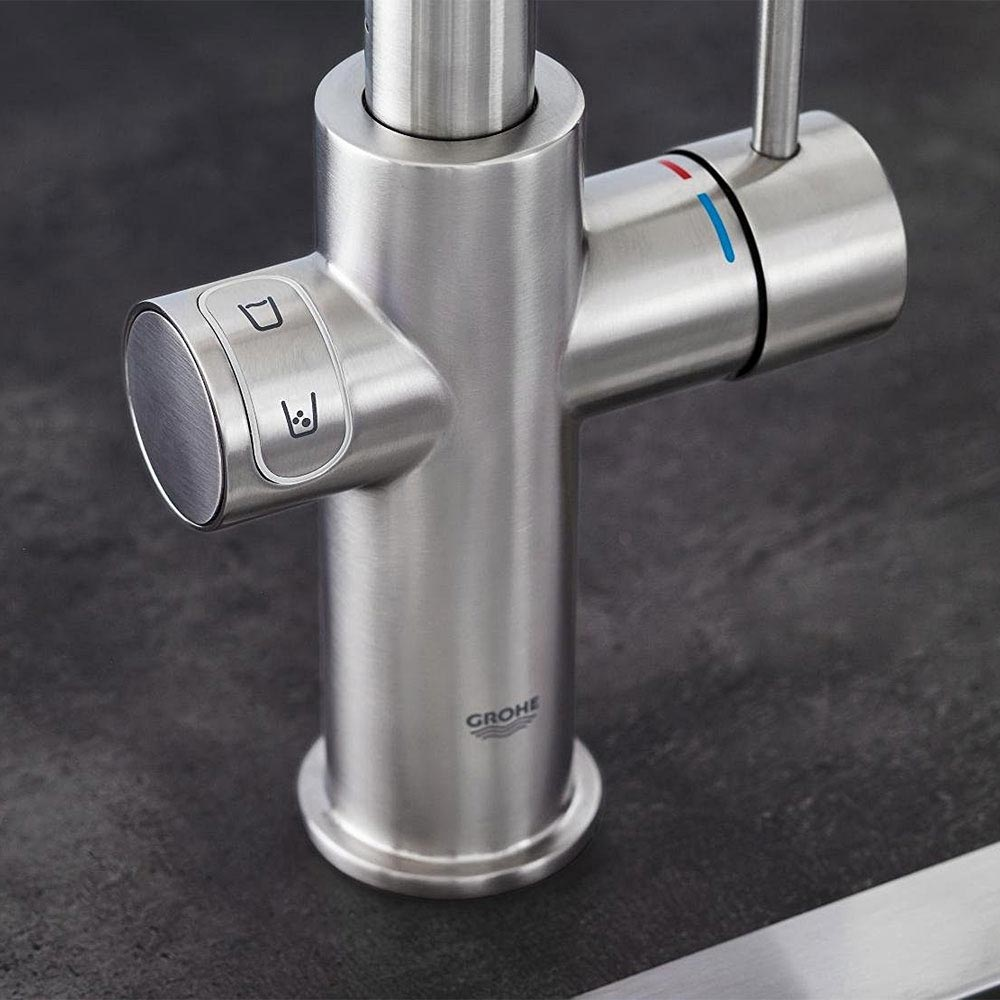 Grohe C-Spout Blue Home Duo Starter Kit - Stainless Steel - 31455DC0 profile large image view 3