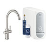 Grohe C-Spout Blue Home Duo Starter Kit - Stainless Steel - 31455DC1 profile small image view 1