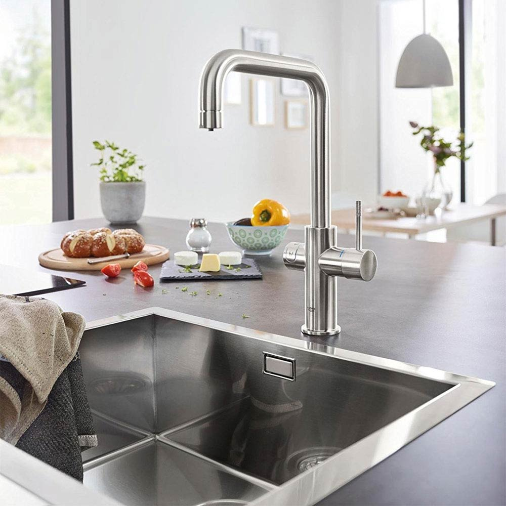 Grohe U-Spout Blue Home Duo Starter Kit - Stainless Steel - 31456DC0 profile large image view 3