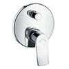 hansgrohe Metris Concealed Single Lever Manual Bath Mixer - 31493000 profile small image view 1