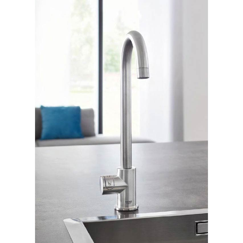 Grohe High C-Spout Mono Blue Home Duo Starter Kit - Chrome - 31498000 profile large image view 2