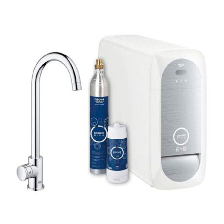 Grohe High C-Spout Blue Home Duo Starter Kit - Chrome - 31498000