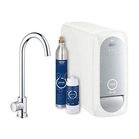 Grohe High C-Spout Mono Blue Home Duo Starter Kit - Chrome - 31498000