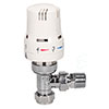 Eden 15mm Angled Thermostatic Radiator Valve - White - 315010 profile small image view 1