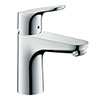 hansgrohe Focus Single Lever Basin Mixer 100 CoolStart with Pop-up Waste - 31621000 profile small image view 1
