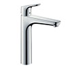 hansgrohe Focus Single Lever Basin Mixer 190 without Waste - 31518000 profile small image view 1