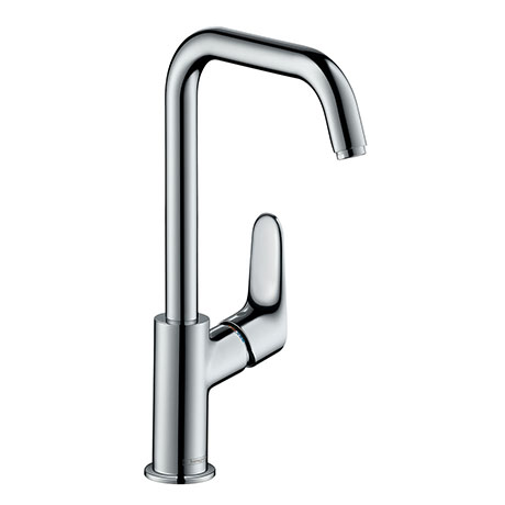 hansgrohe Focus Single Lever Basin Mixer 240 with Swivel Spout without Waste - 31519000