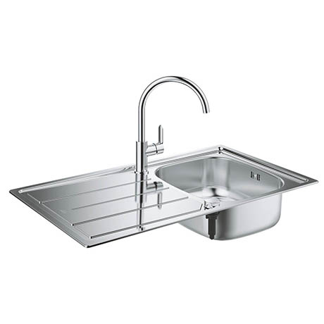 Grohe Bau Stainless Steel Kitchen Sink & Tap Bundle - 31562SD0