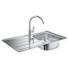 Grohe Bau Stainless Steel Kitchen Sink & Tap Bundle - 31562SD0 profile small image view 1