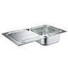Grohe K300 1.0 Bowl Stainless Steel Kitchen Sink - 31563SD0 profile small image view 1