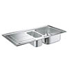 Grohe K300 1.5 Bowl Stainless Steel Kitchen Sink - 31564SD0 profile small image view 1
