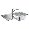 Grohe Eurosmart Stainless Steel Kitchen Sink & Tap Bundle - 31565SD0 profile small image view 1