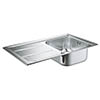 Grohe K400 1.0 Bowl Stainless Steel Kitchen Sink - 31566SD0 profile small image view 1