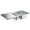 Grohe K400 1.5 Bowl Stainless Steel Kitchen Sink - 31567SD0 profile small image view 1