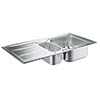 Grohe K400+ 1.5 Bowl Stainless Steel Kitchen Sink - 31569SD0 profile small image view 1