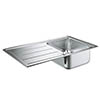 Grohe K500 1.0 Bowl Stainless Steel Kitchen Sink - 31571SD0 profile small image view 1