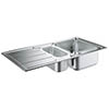 Grohe K500 1.5 Bowl Stainless Steel Kitchen Sink - 31572SD0 profile small image view 1
