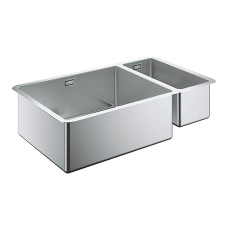grohe k700 1 5 bowl undermount stainless steel kitchen sink rh victorianplumbing co uk blanco double bowl stainless steel undermount kitchen sink kraus 16-gauge double-basin undermount stainless steel kitchen sink