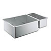 Grohe K700 1.5 Bowl Undermount Stainless Steel Kitchen Sink - 31575SD0 profile small image view 1
