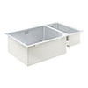 Grohe K700 1.5 Bowl Undermount Stainless Steel Kitchen Sink - 31575SD1 profile small image view 1