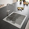 Grohe K700 1.0 Bowl Stainless Steel Kitchen Sink - 31578SD0 profile small image view 1