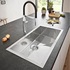 Grohe K700 1.0 Bowl Stainless Steel Kitchen Sink - 31580SD0 profile small image view 1