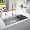 Grohe K800 1.0 Bowl Stainless Steel Kitchen Sink - 31586SD0 profile small image view 1