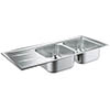 Grohe K400 2.0 Bowl Stainless Steel Kitchen Sink - 31587SD0 profile small image view 1